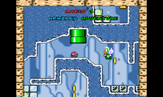 Screenshot Thumbnail / Media File 1 for Super Mario World (USA) [Hack by Superwiidude v1.0] (~Mario's Amazing Adventure)